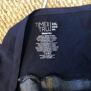 XXL (20) Plus size Maternity Shorts- Blue denim